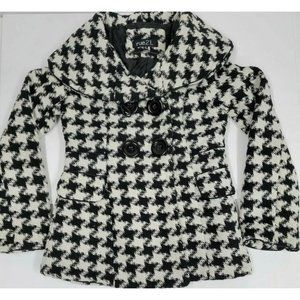 rue 21 Hounds Tooth Pea Coat Size Small